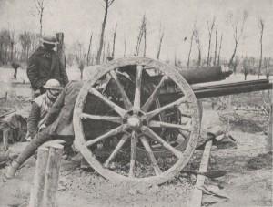 An 18 pdr field gun
