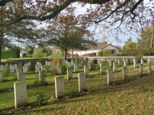 Leicestershire Graves in Le Touret Cemetery