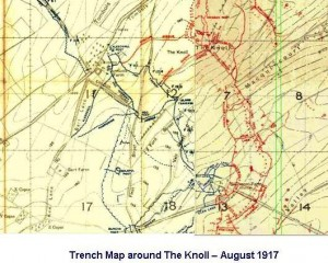Knoll Trench Map Aug 1917
