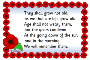 They shall grow not old