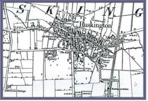 Map of Ruskington c. 1910