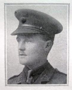 2/Lt. Thomas Wright, in Berkshire Regt. uniform